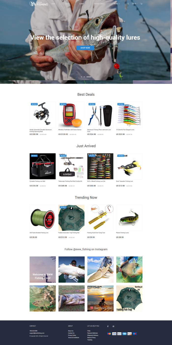 Buy High Quality Fishing Supplies online